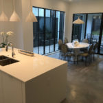 polished concrete in kitchen