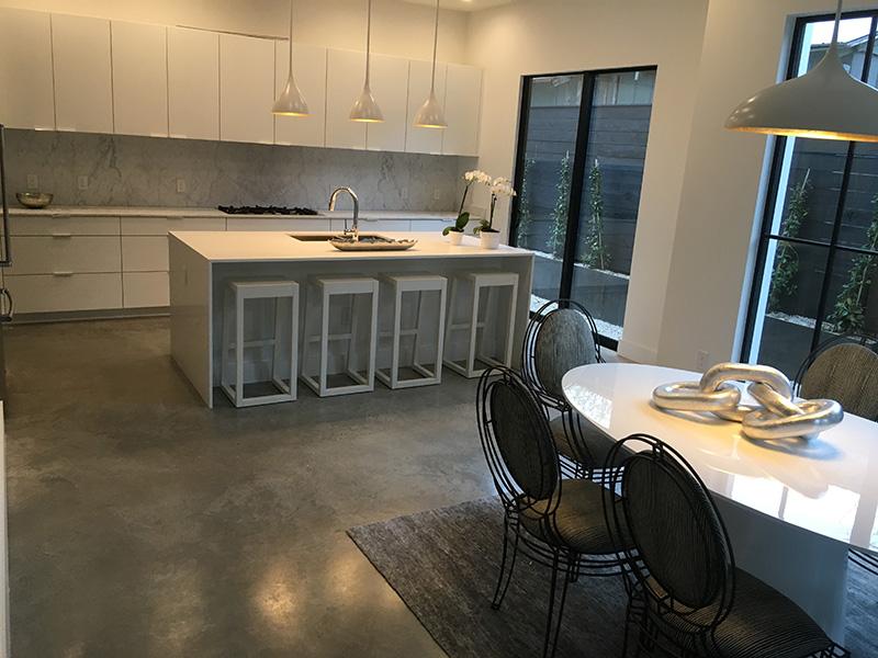 polishing conrete residential